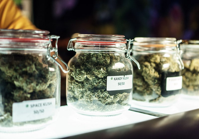 jars with cannabis
